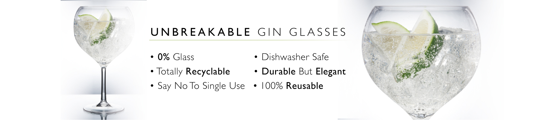 Plastic Gin Glasses