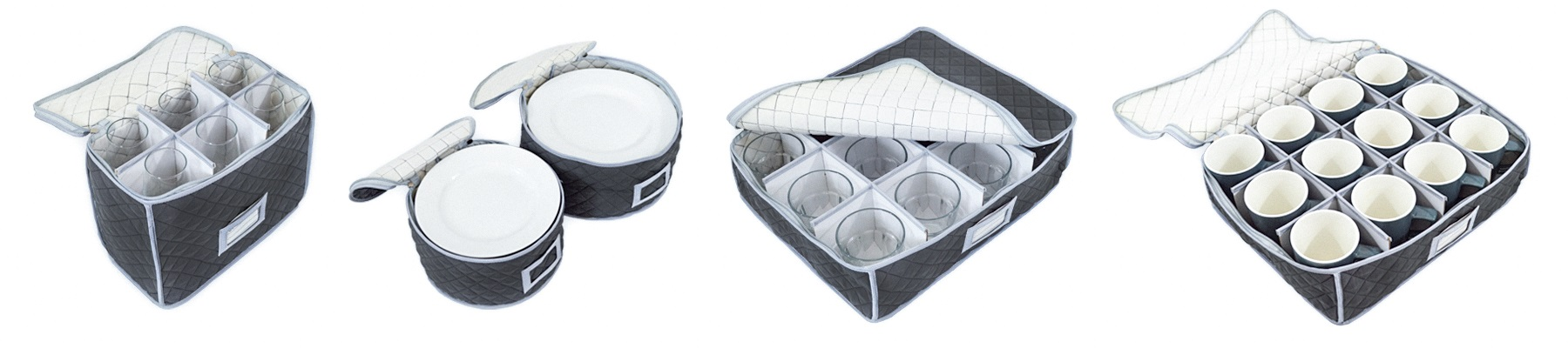 Quilted Storage Cases, Glassware Storage, Plate Storage