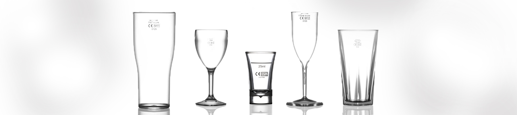 CE marked Plastic Glassware