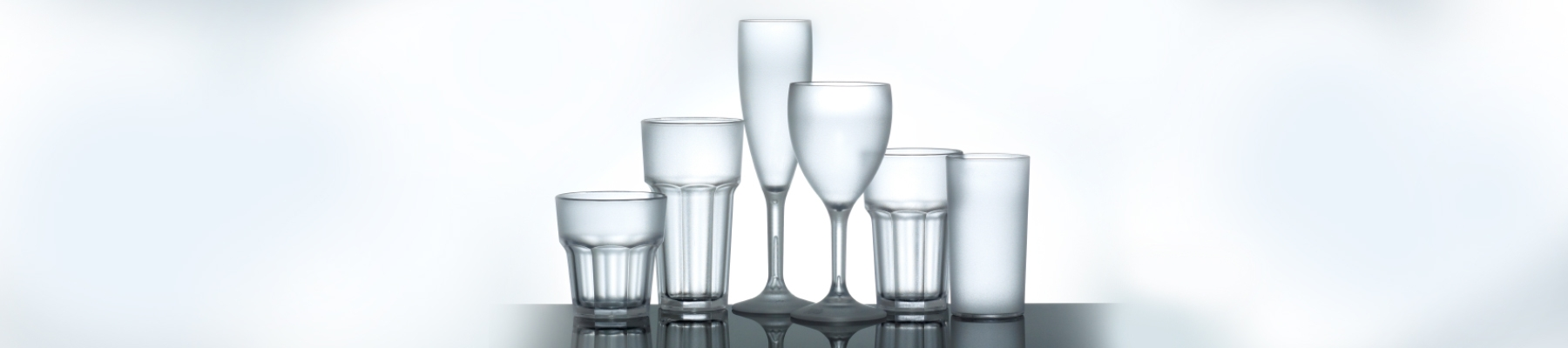 Frosted Plastic Glassware, Frosted Glasses, Reusable Plastic Glassware