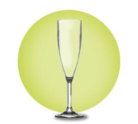 Plastic Champagne Flutes Polycarbonate