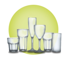 Frosted Plastic Polycarbonate Glasses