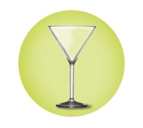 Plastic Martini Glasses - Polycarbonate