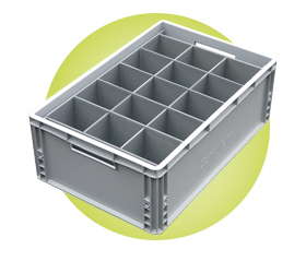 Euro Crate Glass Storage