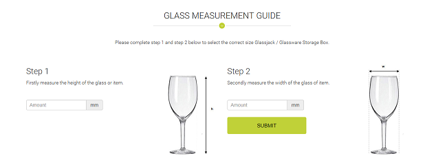 Glass Measurement Guide - Glassware Storage Boxes