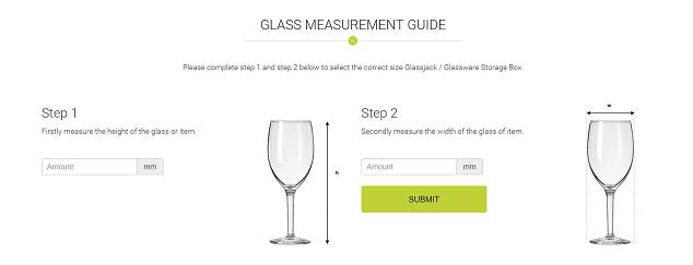 Glass Measurement Guide - Glassware Storage Boxes